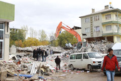 Earthquake in Ercis, Van. royalty free stock photography