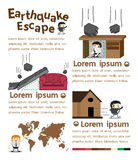 Earthquake escape infographics. Vector Illustrator vector illustration