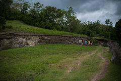 Earthquake fault line philippines bohol Royalty Free Stock Images