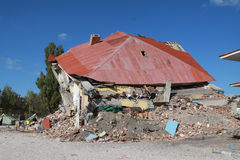 Earthquake in Gedikbulak Village, Van. Stock Photos