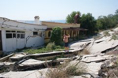 Earthquake, Golden Sands Bulgaria Stock Images