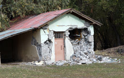 Earthquake in the Gollu Village, Van. Royalty Free Stock Images