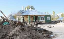 THE EARTHQUAKE IN GUVECLI VILLAGE, VAN. Royalty Free Stock Photo
