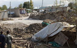 THE EARTHQUAKE IN GUVECLI VILLAGE, VAN. Stock Image
