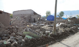 THE EARTHQUAKE IN GUVECLI VILLAGE, VAN. Royalty Free Stock Image