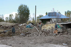 The Earthquake in Guvecli Village, Van. Royalty Free Stock Photography