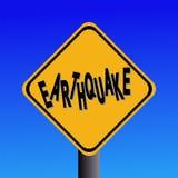 Earthquake hazard sign stock photography