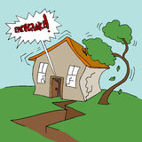 Earthquake at Home. An image of a residential earthquake event Stock Image