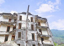 Earthquake  house Stock Photo