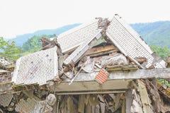 Earthquake  house Stock Photos