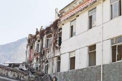 Earthquake house Stock Photography