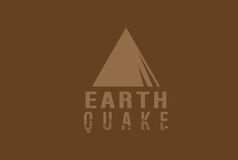 EARTHQUAKE ILLUSTRATION. My first upload on Dreamstime, please be kind :D Royalty Free Stock Photos