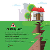 Earthquake Insurance Colourful Vector Illustration Stock Images