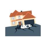 Earthquake Insurance vector Royalty Free Stock Image