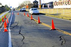 Earthquake in Japan 11th March 2011. Multiple massive earthquake hit Japan on 11th of March 2011. The first was off the coast of Miyagi, the second was of the Royalty Free Stock Image