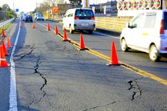 Earthquake in Japan 11th March 2011 Royalty Free Stock Photography