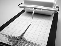 Earthquake measures. 3d high quality rendering Royalty Free Stock Images