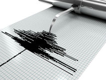 Earthquake measures. 3d high quality rendering Royalty Free Stock Photography