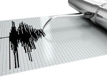 Earthquake measures. 3d high quality rendering Stock Image
