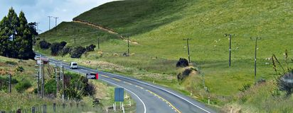 Earthquake New Zealand Crack Hill Stock Image