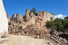 Earthquake ruins Stock Photo