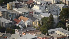 earthquake in San Francisco stock video footage