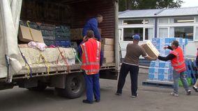 Earthquake supplies stock footage