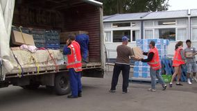 Earthquake supplies stock video