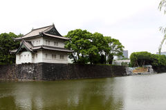 After Earthquake and Tsunami in Japan. Collapsed Retaining walls of the Imperial Palace Royalty Free Stock Images