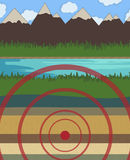 Earthquake vector illustration nature Royalty Free Stock Photos