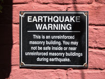 Earthquake warning Stock Image