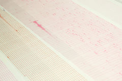 Earthquake wave on a graph paper Stock Photos