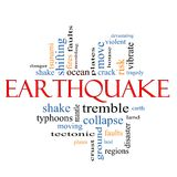 Earthquake Word Cloud Concept Stock Photos