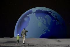 Earthrise: Een reuzeSprong Royalty-vrije Stock Afbeeldingen