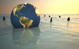 Earth�s in trouble Stock Photos