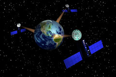 EarthSat4 Stock Photography