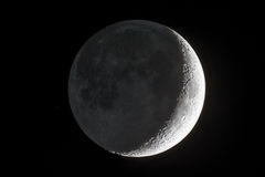 Earthshine new moon. Royalty Free Stock Image