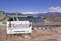 Earthship Biotecture. Earthship Biotec House in Taos New Mexico Stock Images