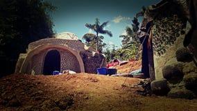 Earthship Puerto Rico Commencing photos libres de droits