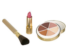 Earthtones makeup kit 2 stock photos