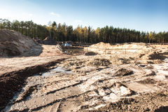 Earthworks for the construction of the  motorway Royalty Free Stock Image