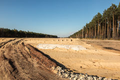 Earthworks for the construction of the  motorway Stock Image
