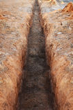Earthworks, digging trench ground. Earthworks, digging trench a ground stock images