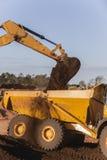 Earthworks Excavator Bucket Earth Stock Image