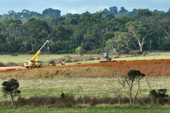 Earthworks for freeway in Australia Stock Image