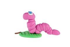 Earthworm od plasteliny Zdjęcie Stock