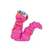 Earthworm from plasticine Stock Photo