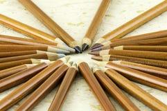 Earthy покрашенные карандаши Стоковые Фотографии RF