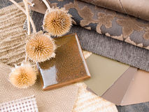 Earthy brownish interior design plan Royalty Free Stock Image