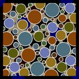 Earthy colored circles Royalty Free Stock Image
